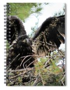 Wing Exercising Spiral Notebook