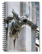 Winged Gargoyle Duomo Di Milano Italia Spiral Notebook