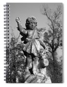 Winged Girl 4 Spiral Notebook