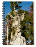 Winged Girl 8 Spiral Notebook
