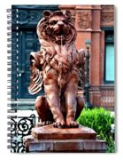 Winged Lion Fountain Spiral Notebook
