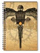 Winged Rider Spiral Notebook