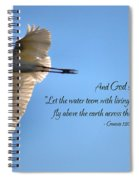 Wings Of Faith Spiral Notebook
