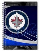 Winnipeg Jets Christmas Spiral Notebook