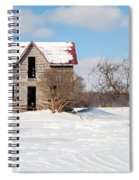 Winter Abandoned Farmouse Spiral Notebook