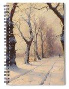 Winter Alley Spiral Notebook