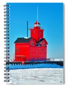 Winter At Big Red Spiral Notebook