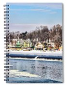 Winter At Boathouse Row In Philadelphia Spiral Notebook