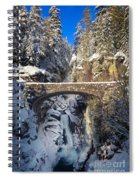 Winter At Christine Falls Spiral Notebook