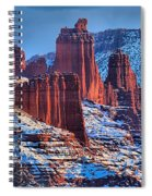 Winter At Fisher Towers Spiral Notebook
