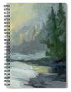 Winter At Gold Creek Spiral Notebook