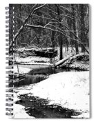 Winter At Pedelo Black And White Spiral Notebook