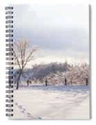 Winter At Scarborough Bluffs Spiral Notebook