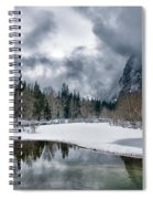 Winter At Swinging Bridge Spiral Notebook