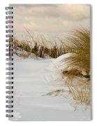 Winter At The Beach 3 Spiral Notebook