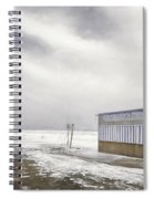 Winter At The Cabana Spiral Notebook