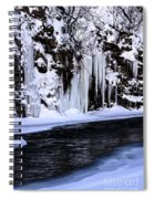 Winter At The Creek Spiral Notebook