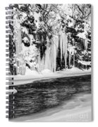 Winter At The Creek Monochrome Spiral Notebook