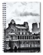 Winter At The Fairmount Waterworks In Black And White Spiral Notebook