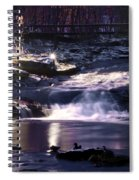 Winter At The Woodlands Waterfall In Wilkes Barre Spiral Notebook