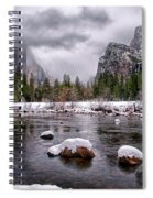 Winter At Valley View Spiral Notebook