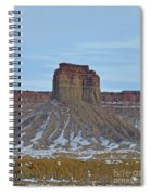 Winter Banded Butte Spiral Notebook