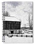 Winter Barn Impasto Version Spiral Notebook