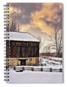 Winter Barn - Paint Spiral Notebook