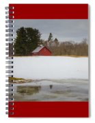 Winter Barn Spiral Notebook