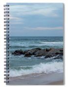 Winter Beach Day Lavallette New Jersey Spiral Notebook