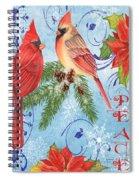 Winter Blue Cardinals-peace Card Spiral Notebook