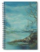 Winter Blue Spiral Notebook
