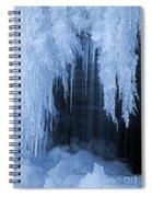 Winter Blues - Frozen Waterfall Detail Spiral Notebook