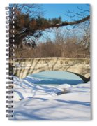 Winter Bridge Spiral Notebook