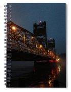 Winter Bridge In Fog 2 Spiral Notebook
