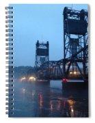 Winter Bridge In Fog Spiral Notebook