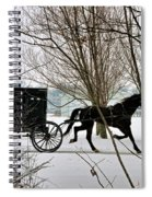 Winter Buggy Spiral Notebook