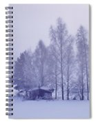 Winter Cabin In The Woods Spiral Notebook