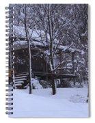 Winter Cabin Spiral Notebook