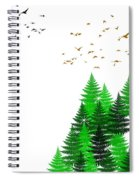 Winter Four Seasons Spiral Notebook