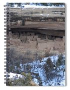 Winter Cliff Palace Spiral Notebook