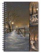 Winter Collage Spiral Notebook