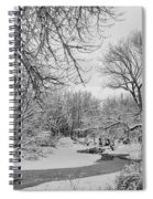 Winter Creek In Black And White Spiral Notebook