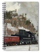 Winter Crossbuck Crossing Spiral Notebook