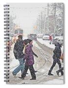 Winter Crossing Spiral Notebook
