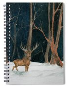 Winter Deer Spiral Notebook