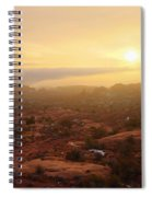 Winter Desert Glow Spiral Notebook
