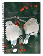 Winter Doves Spiral Notebook