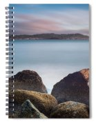 Winter Evening On Humboldt Bay Spiral Notebook