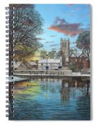 Winter Evening Tickhill Yorkshire Spiral Notebook